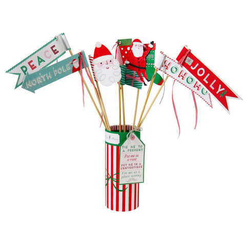 Table Centrepiece: Jingle All The Way Flags