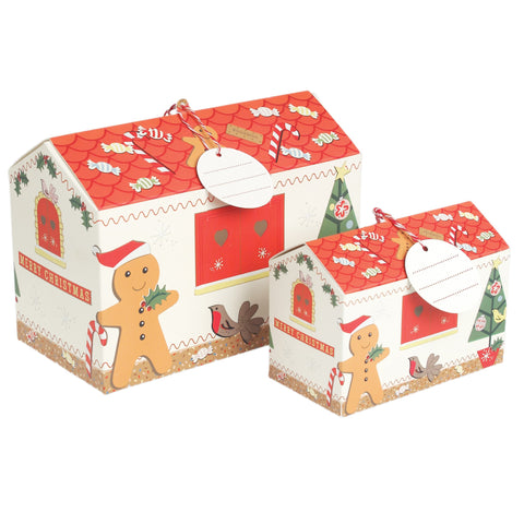 Christmas House Gift Boxes: Set of 2