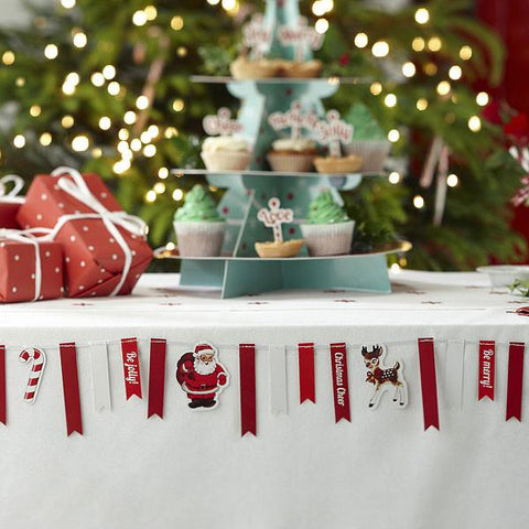 Christmas Ribbon Bunting