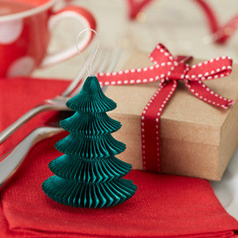 Christmas Tree Honeycomb Decorations: Pack of 5
