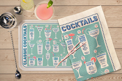 Tea Towel: Cocktails