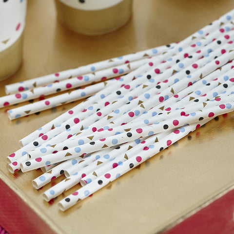 Straws: Confetti - Pack of 25