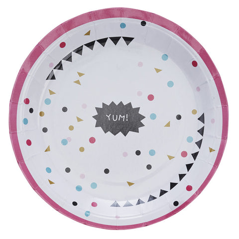 Plates: Confetti - Pack of 8