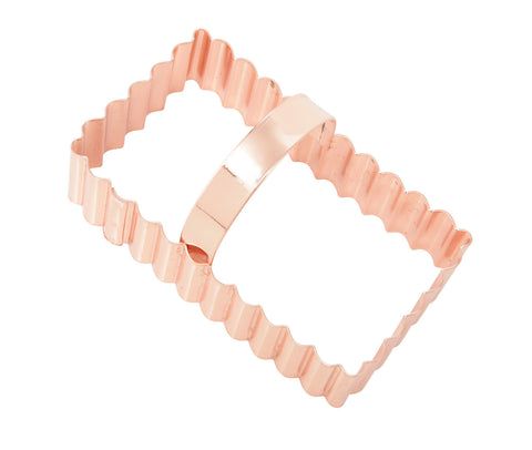 Cookie Cutters: Copper Fluted Shortbread 8cm