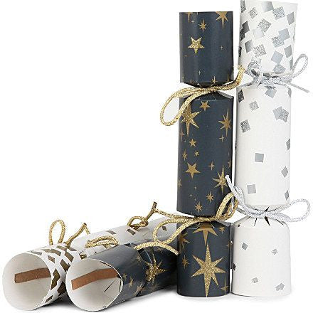Mini Crackers: Contemporary Black, Gold, White & Silver