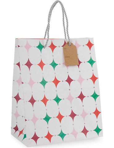 Christmas Gift Bag: Medium Diamond Meri Meri All Wrapped Up