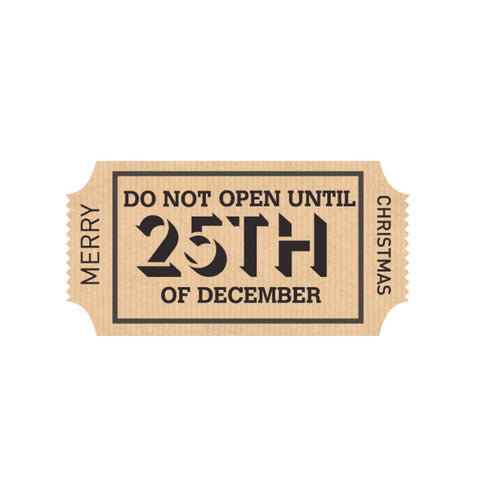Large Stickers: Do Not Open Until 25th December - Christmas - Pack of 5