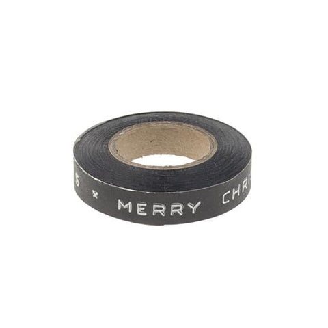 Tape: 'Merry Christmas' - Typewriter/Dymo Style in Black