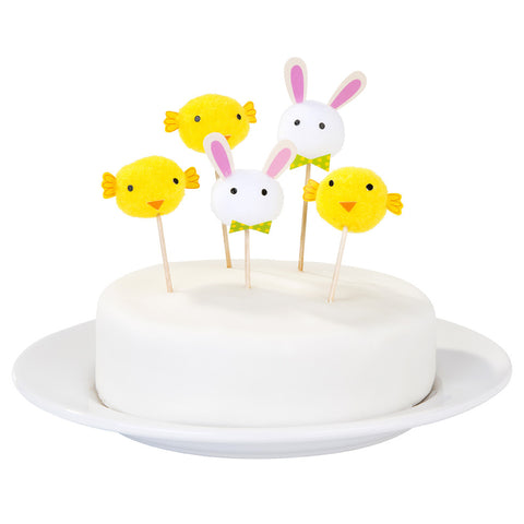 Cake Toppers/Food Picks: Easter Pom Poms