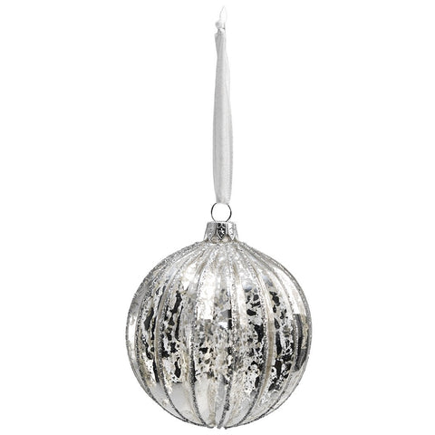 Edwardian Ridged Glass Bauble: 2 sizes