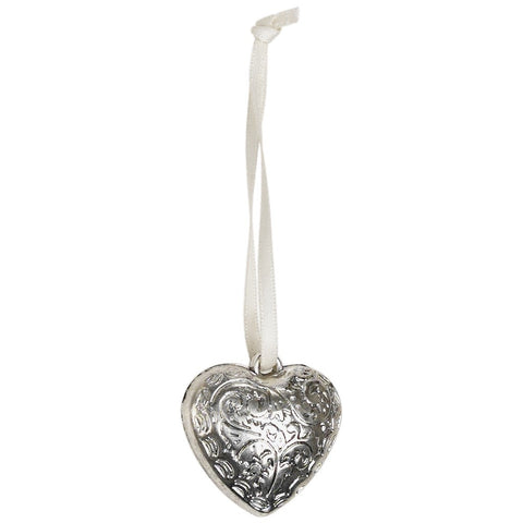 Mini Silver Heart Decoration