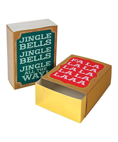 Fa La La Christmas Gift Boxes - Giant Match Boxes - Pack of 2