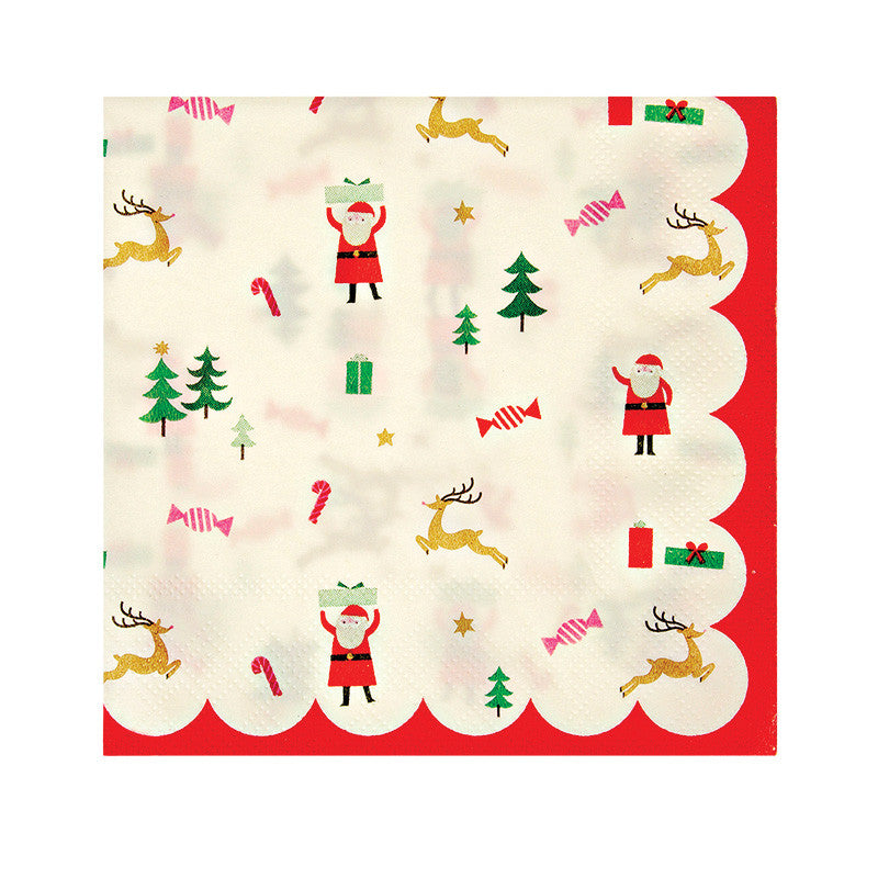 Christmas Napkins.Christmas Napkins Be Jolly Festive Mini Napkins Baker And