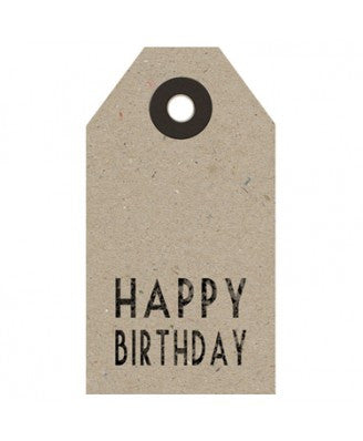 Gift Tags: Individual Happy Birthday Kraft Tag