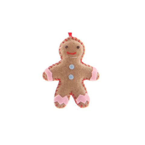 DIY Craft Kit: Gingerbread Figures - Festive Hanging Decorations - Set of 3
