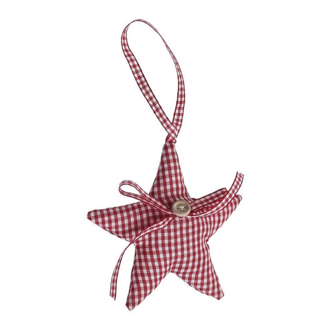 Christmas Scandinavian Style Gingham Decorations: Tree or Star
