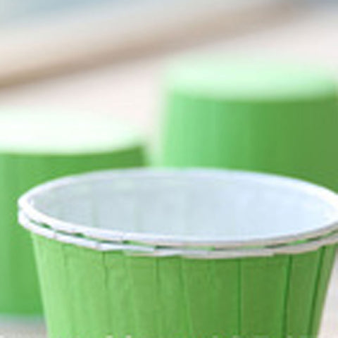 Baking Cups: Pleated Green: Pack of 20