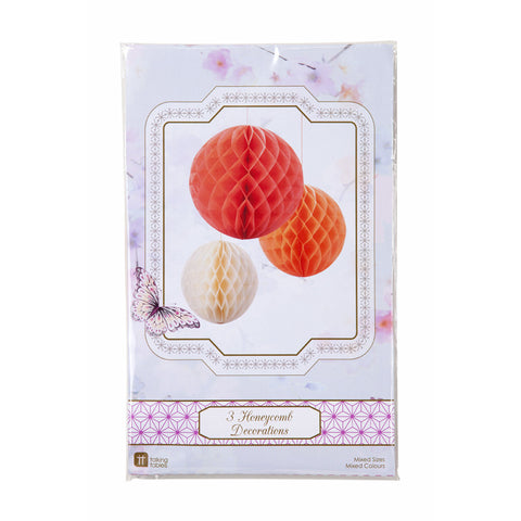 Honeycomb Decorations: Blush Mix