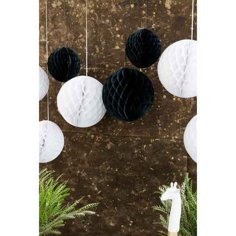 Honeycomb Decorations: Black & White