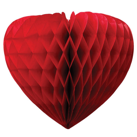 Honeycomb Heart Party Decoration: Red