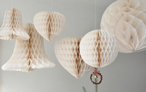 Honeycomb Ball Party Decoration: Ivory