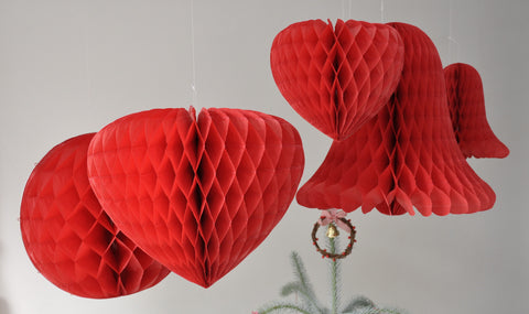 Honeycomb Ball Party Decoration: Red