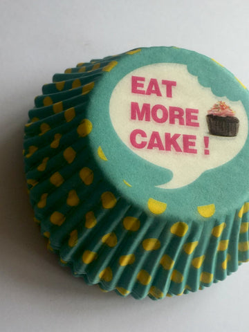 Eat More Cake Polka Dot Cupcake Cases