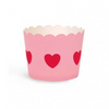 Paper Eskimo Baking Cups: Scalloped Pink with Red Heart