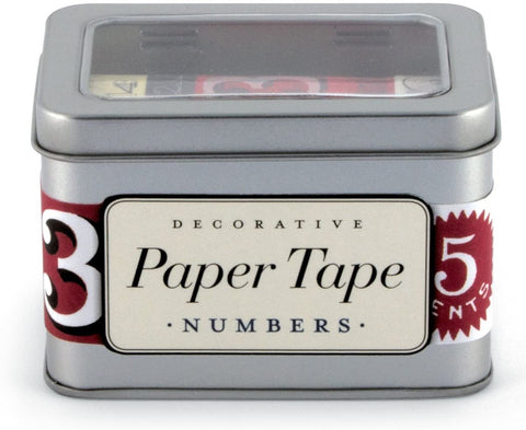 Paper Tape: Set of 4 Numbered Tapes