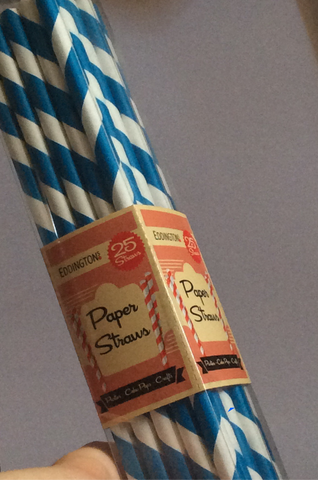 Paper Straws: Brown, Blue or Green