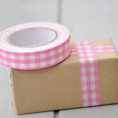 Tape: Pink Gingham - 5m
