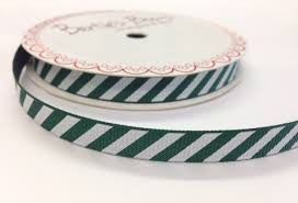 Ribbon: Candy Cane - Green & White 3m
