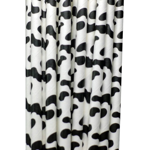 Straws: Cow Print - Packs of 25