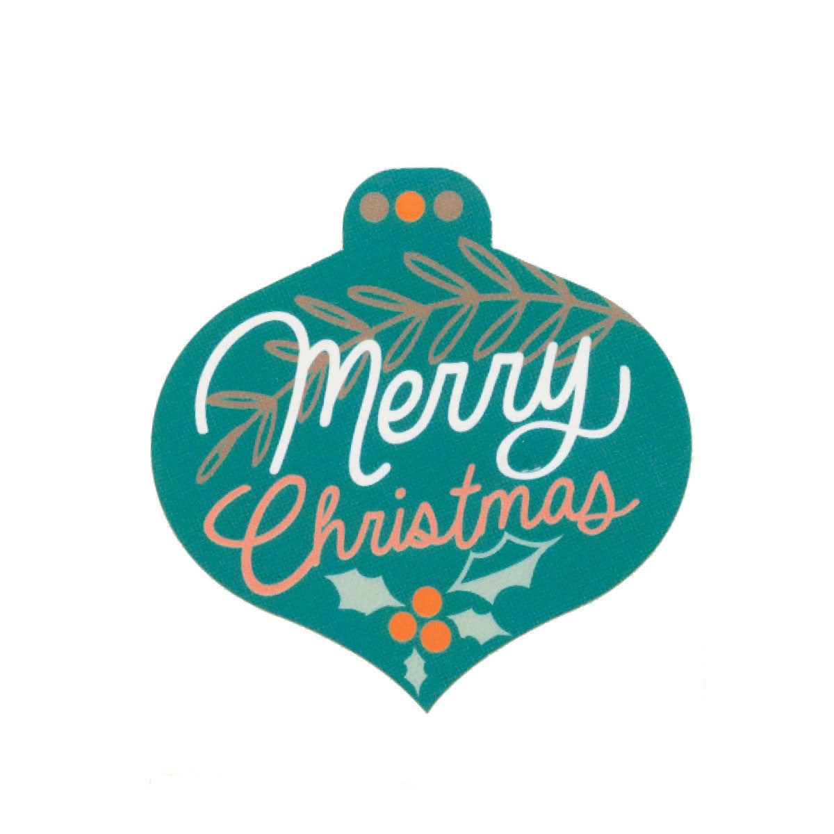 Large stickers merry christmas pack of 5