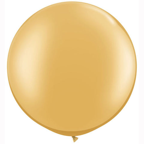 Large Round 30in Metallic Balloons: Gold or Silver