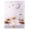 Cake Toppers: Glittery Gold Moon & Stars - 'all is calm, all is bright' - 5 pieces