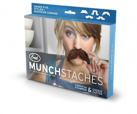 Cookie Cutter Set: Moustaches or Munchstaches
