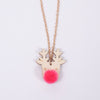 Necklace: Christmas PomPom Reindeer