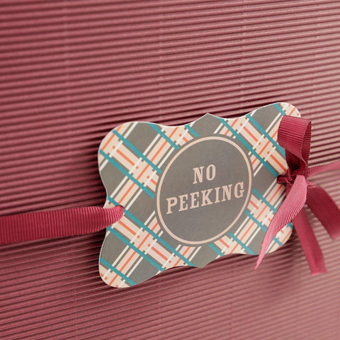 Gift/Hamper Tags: Christmas - No Peeking - Pack of 5