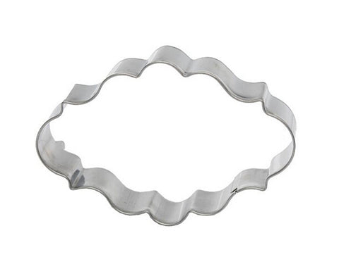 Cookie Cutter: Fancy Oval Plaque