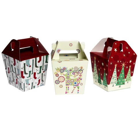 Christmas Panettone Boxes: Set of 3