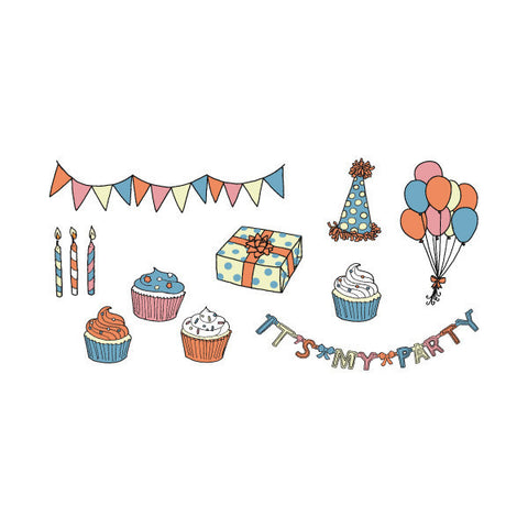 Temporary Tattoos: CAKE! Party Set of 8