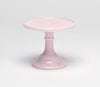 Milk Glass Cake Stand: Pink