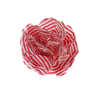 Pom Poms: Red Candy Stripes