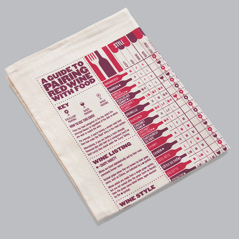 Tea Towel: Wine Matching