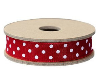 Ribbon: Red Polka Dot 3m