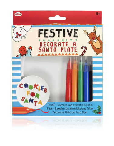 Festive Decorate a Santa Plate