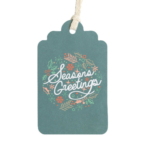 Gift Tags: Season's Greetings - Christmas - Pack of 5