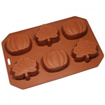 Silicone Mould: Autumn Leaves & Pumpkins