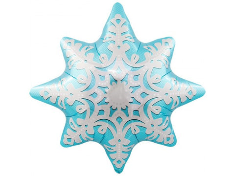 Balloon: Ice Blue Snowflake: Foil 61cm